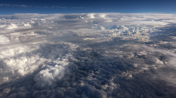 Every kind of cloud you could imagine is in this picture, near Pittsburgh.  (Kent Porter / Press Democrat) 2012