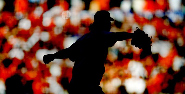 Madison Bumgarner got the start in Game 4 of the World series, Saturday Oct. 25, 2014.  (Kent Porter Press democrat) 2014