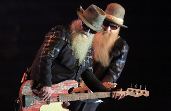 ZZTop performs at the Wells Fargo Center for the Arts, Wed, April 22, 2015 in Santa Rosa.  (Kent Porter / Press Democrat) 2015