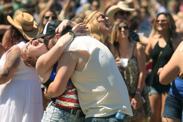 Diane Duran of Santa Rosa  and Colin Moxon of Eureka, dance at Country Summer 2015 at the Sonoma County Fairgrounds in Santa Rosa, Friday June 5, 2015.  (Kent Porter / Press Democrat) 2015