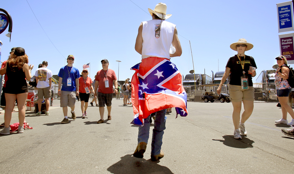"T.J. Woodward of Sonoma ""Wanted to wear"" his Confederate Flag at Sonoma Raceway in Sonoma, Friday June 26, 2015. (Kent Porter / Press Democrat) 2015"