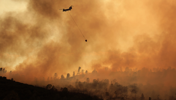 The Air National Guard was brought in to help fight the Jerusalem an Rocky fires in Lake County. (Kent Porter / Press Democrat) 2015