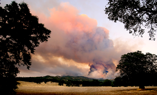 The Rocky fire from Lower Lake, ripped at an extreme rate of spread on July 29, 2015, (Kent Porter / Press Democrat) 2015