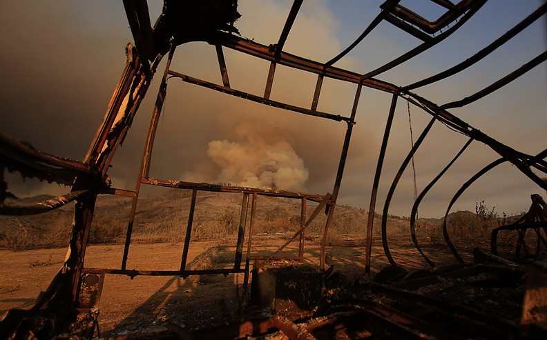 The Rocky fire blows up,Thursday July 30, 2015 near Lower Lake . (Kent Porter / Press Democrat) 2015