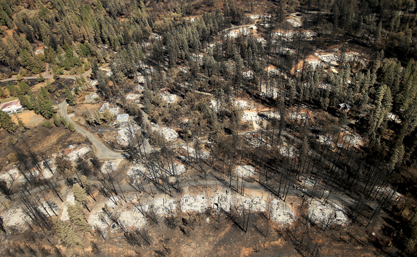 On Boggs Mountain in Cobb, the Humboldt Road area shows the  devastation wrought by the Valley fire, Friday Sept. 18, 2015.  (Kent Porter / Press Democrat) 2015