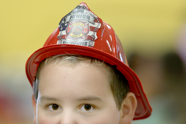 2 year-old Beau Davis returned to school in Middletown Monday Sept. 28, 2015, one of  the hundreds that lost their homes to the Valley fire .  (Kent Porter / Press Democrat) 2015