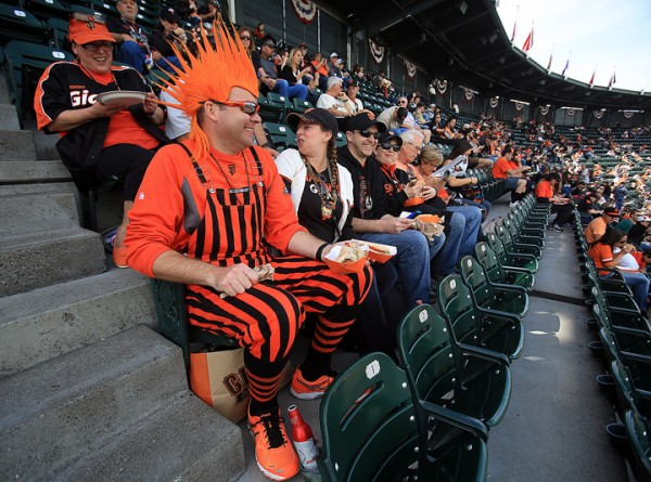 Giants opening day against the Dodgers at AT&T Park in San Francisco, Thursday April April 7, 2016. (Kent Porter / Press Democrat ) 2016