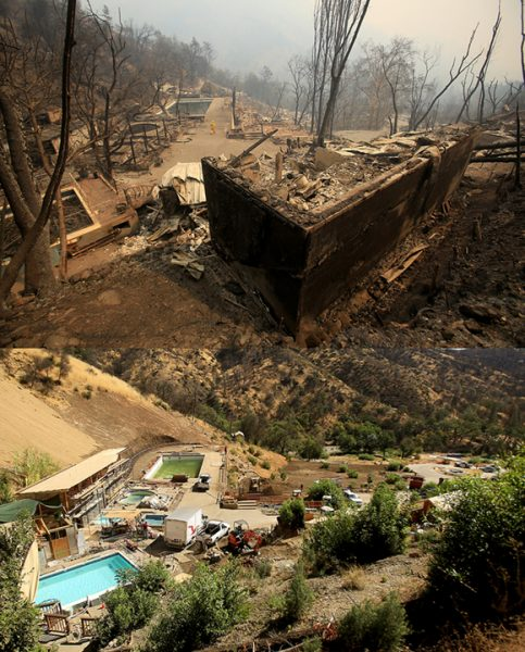 Harbin Hot Springs near Middletown, Sept, 14, 2015 after the Valley fire swept through. In August 2016, the popular resort is looking to reopen for the holidays. (Kent Porter / The Press Democrat) 2016