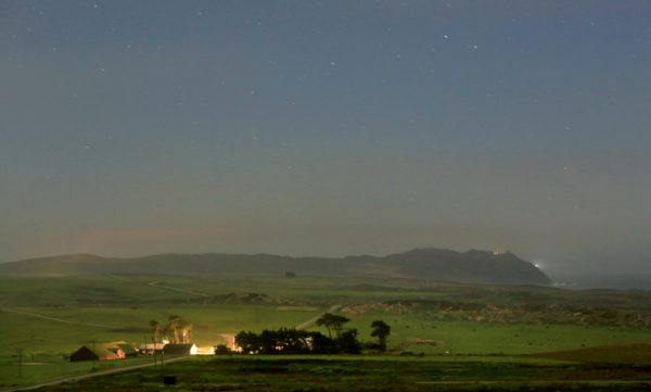 The Historic C Ranch on the Pt. Reyes Peninsula basks under moonlight, Wednesday March 16, 2016. (Kent Porter / Press Democrat) 2016